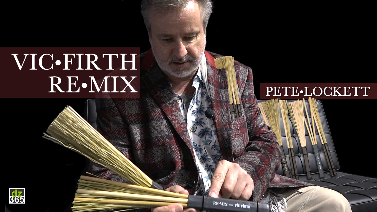 Vic Firth Remix brushes demo and interview with inventor Pete Lockett